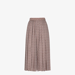 FENDI SKIRT - Skirt in pink and brown silk - view 1 thumbnail