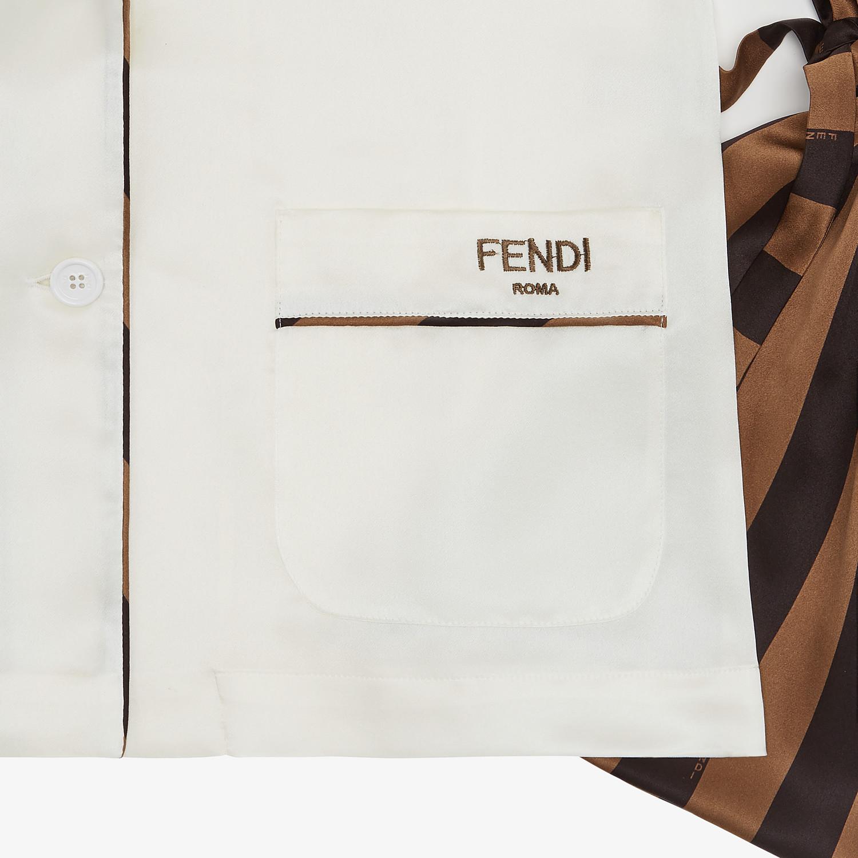 FENDI TRAVEL SET - White silk pyjamas - view 4 detail
