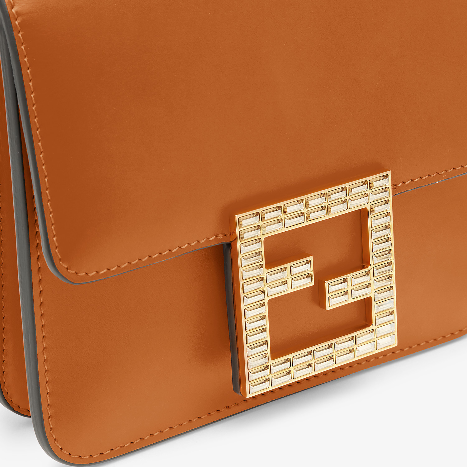 FENDI FENDI FAB - Brown leather bag - view 6 detail