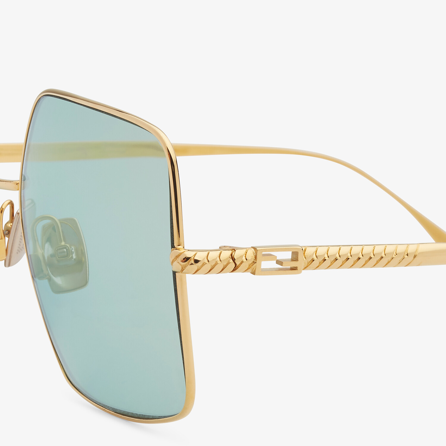 FENDI BAGUETTE - Gold-colored sunglasses - view 3 detail