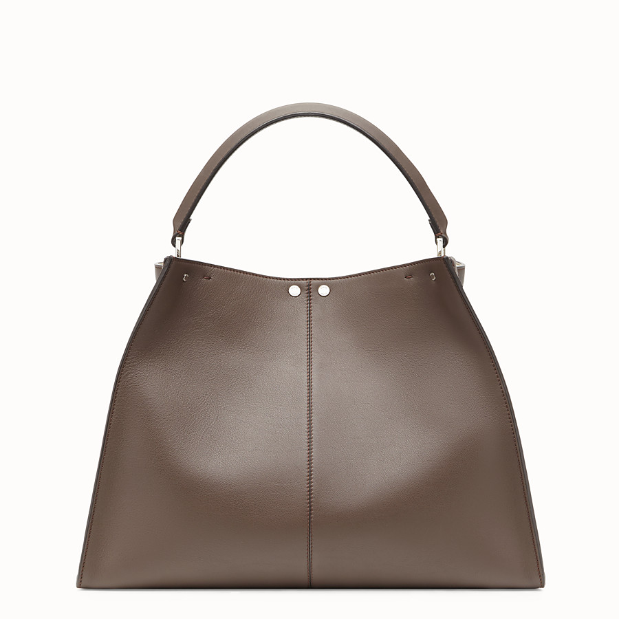 FENDI PEEKABOO X-LITE - Brown leather bag - view 4 detail