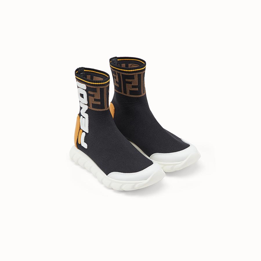 FENDI SNEAKERS - Black mesh shoes - view 2 detail