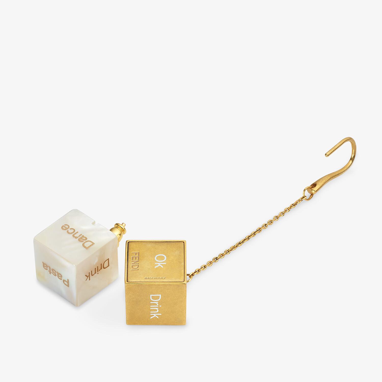 FENDI SIGNATURE EARRINGS - Gold-colored earrings - view 2 detail