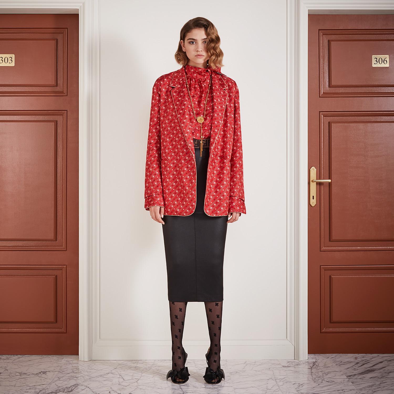 FENDI SKIRT - Black leather skirt - view 4 detail