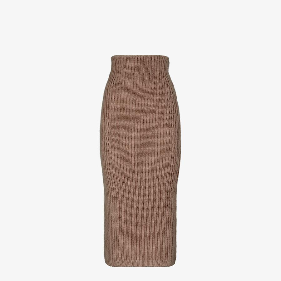 FENDI SKIRT - Brown mohair skirt - view 1 detail