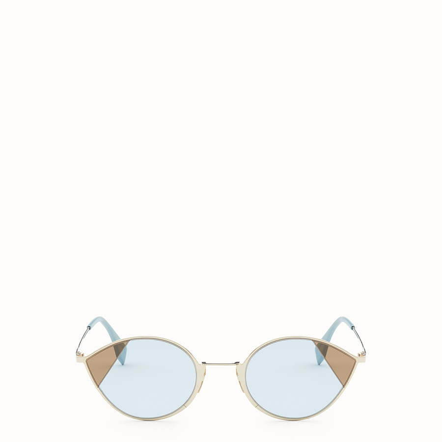 FENDI CUT-EYE - Gold-coloured sunglasses - view 1 detail