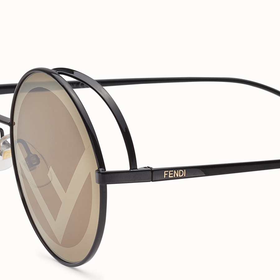 FENDI FENDIRAMA - Black sunglasses - view 3 detail