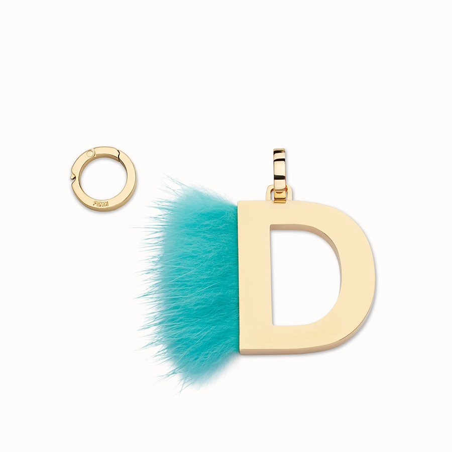 FENDI ABCLICK D - Pendant with fur - view 1 detail