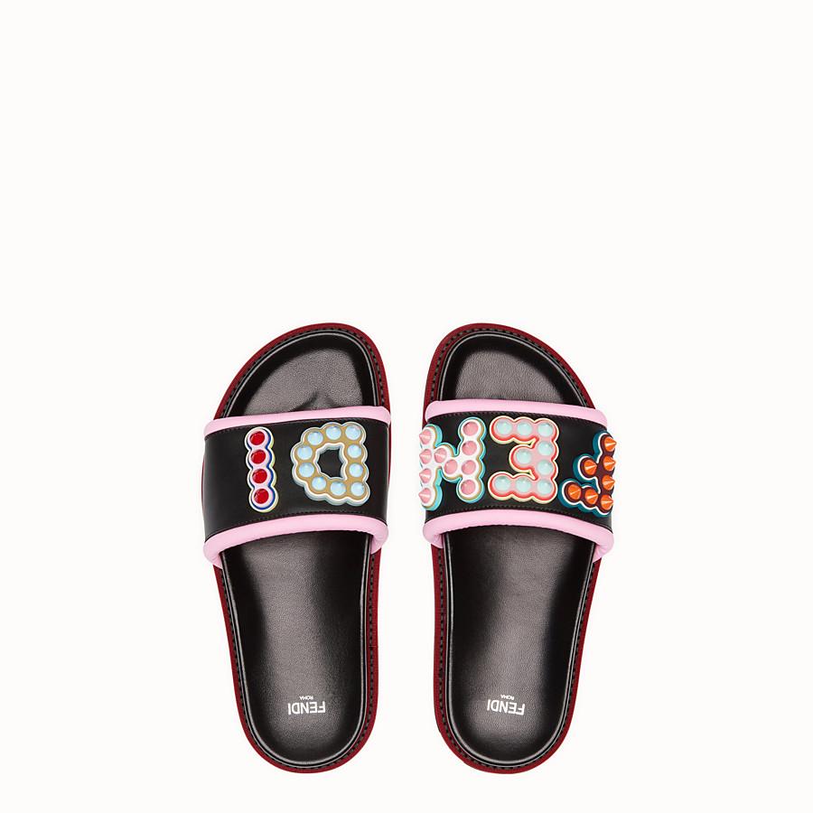 FENDI 涼鞋 - 黑色皮革涼鞋 - view 4 detail