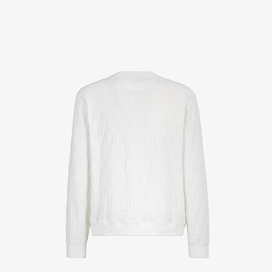 FENDI SWEATSHIRT - White chenille sweatshirt - view 2 detail