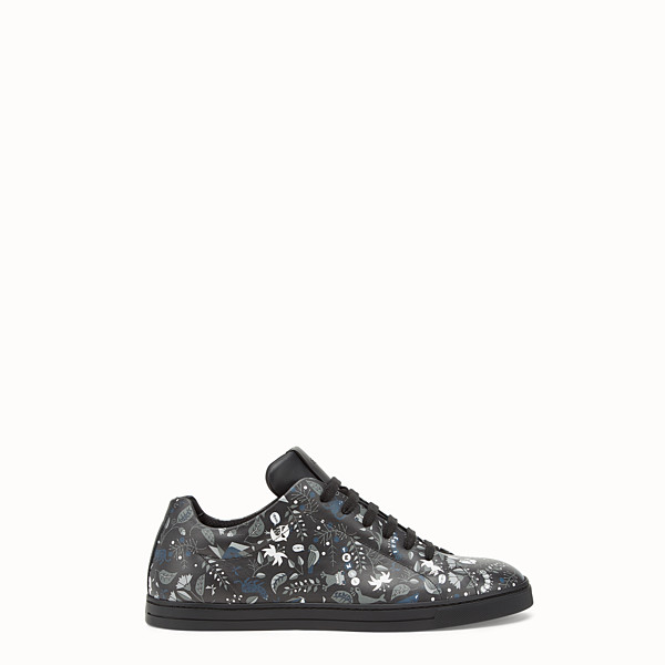 FENDI SNEAKER - Printed black and grey lace-ups - view 1 small thumbnail