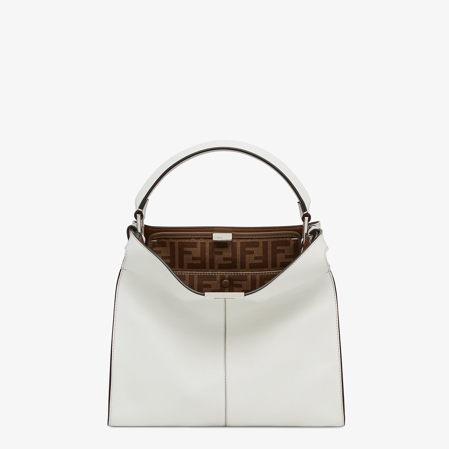 FENDI MEDIUM PEEKABOO X-LITE - White leather bag - view 3 detail