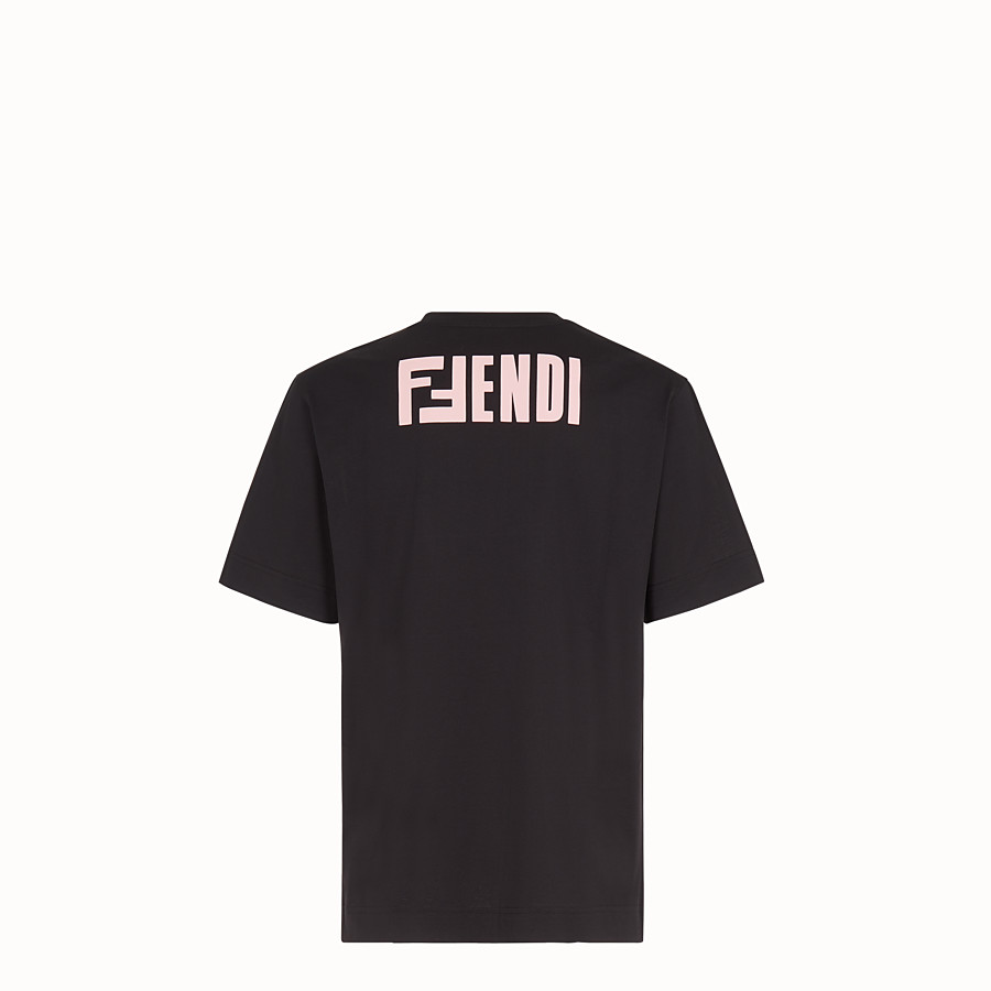 FENDI T-SHIRT - Multicolour cotton T-shirt - view 2 detail