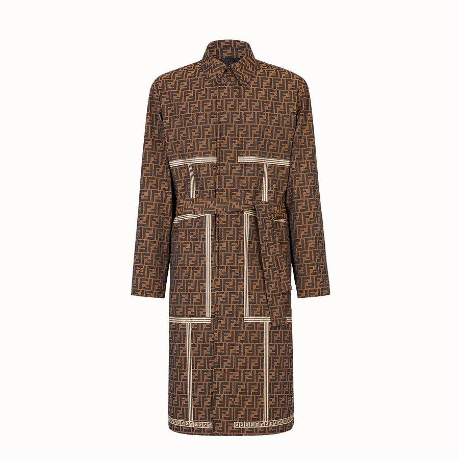 FENDI TRENCH COAT - Brown fabric trench coat - view 1 detail