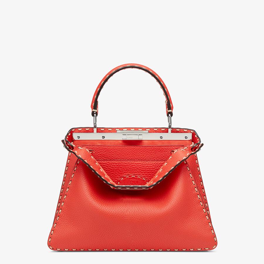 FENDI PEEKABOO ISEEU MEDIUM - Red full grain leather bag - view 1 detail
