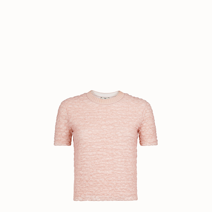 FENDI JUMPER - Pink viscose jumper - view 1 detail