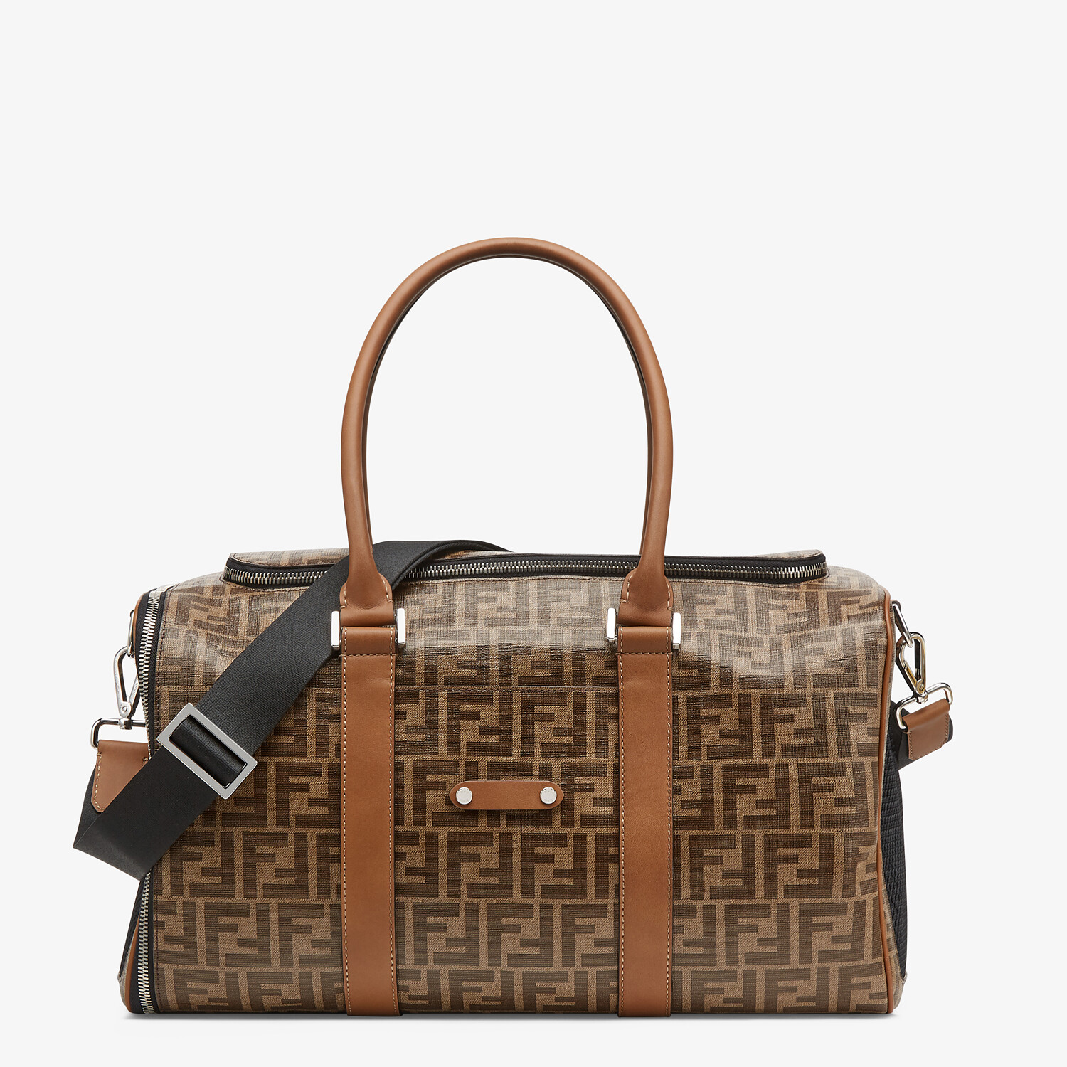 FENDI PET CARRIER - Brown fabric dog carrier - view 1 detail
