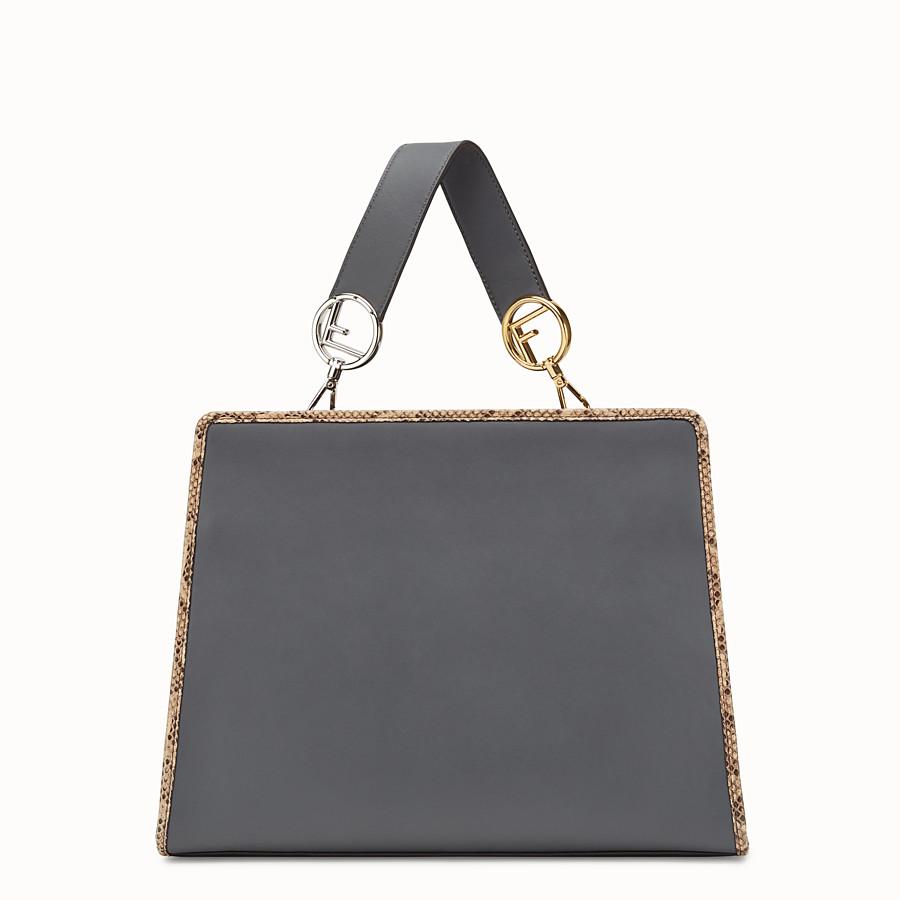 FENDI 標準款式RUNAWAY - 灰色奇珍皮革手袋 - view 3 detail