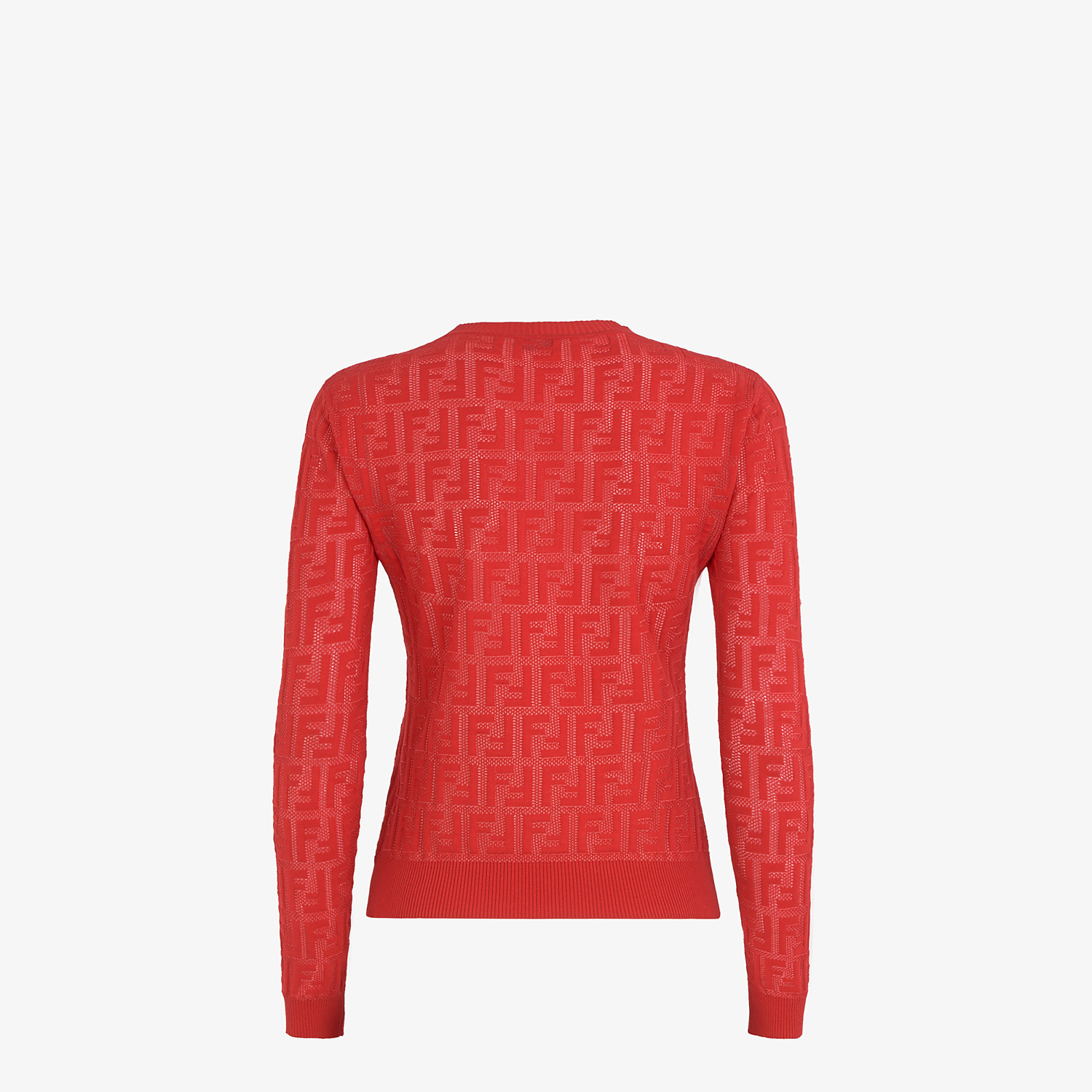 FENDI JUMPER - Red cotton jumper - view 2 detail