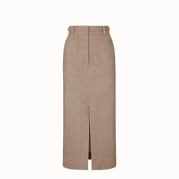 FENDI SKIRT - Beige denim skirt - view 1 small thumbnail