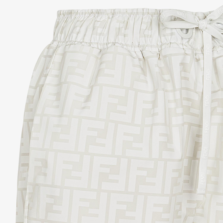 FENDI PANTS - White nylon pants - view 3 detail