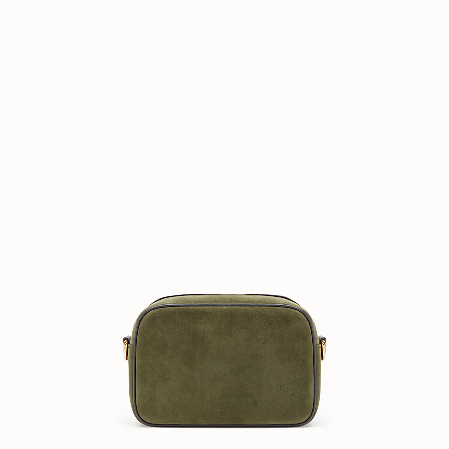 FENDI CAMERA CASE - Green suede bag - view 3 detail