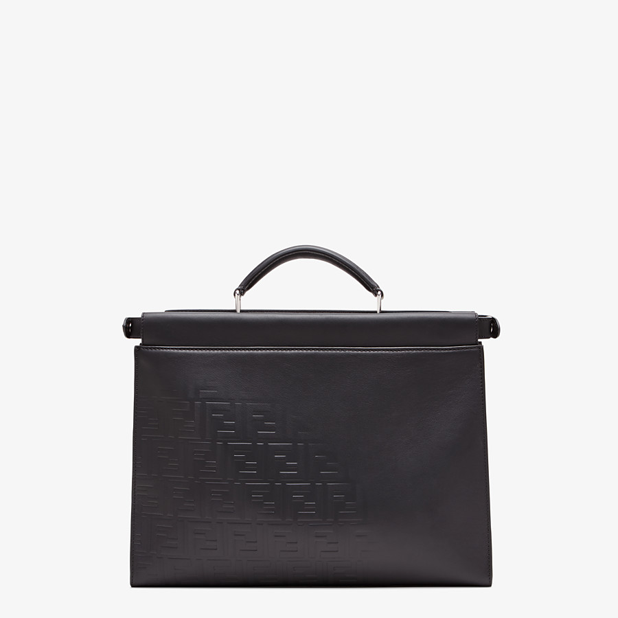 FENDI PEEKABOO ICONIC FIT - Black, calf leather bag - view 3 detail