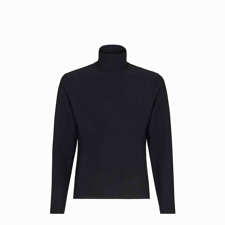 FENDI TURTLENECK - Black jersey jumper - view 1 detail