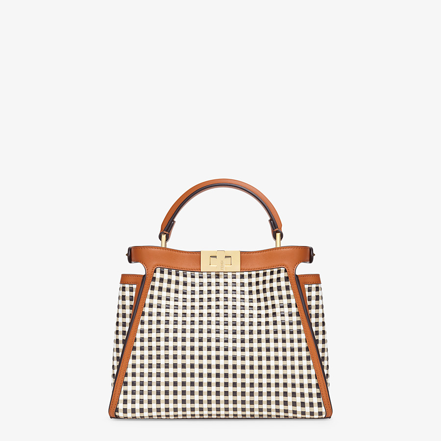 FENDI PEEKABOO ICONIC ESSENTIALLY - Vichy interlace bag - view 4 detail