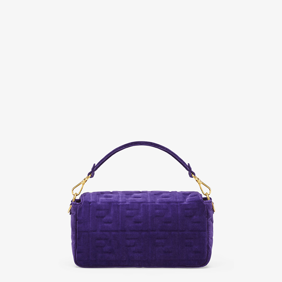 FENDI BAGUETTE - Purple velvet bag - view 3 detail