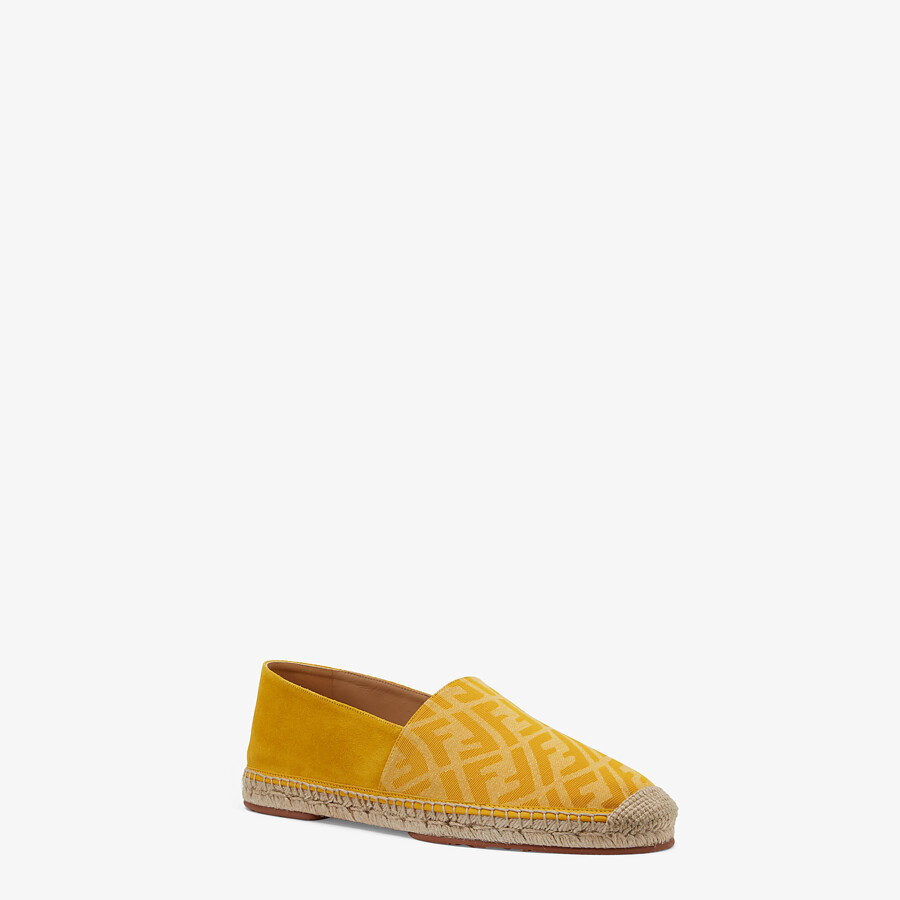 FENDI ESPADRILLES - Yellow fabric and suede espadrilles - view 2 detail