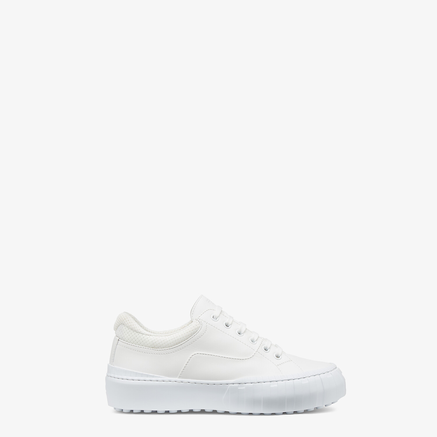 FENDI FENDI FORCE - White fabric and leather low tops - view 1 detail