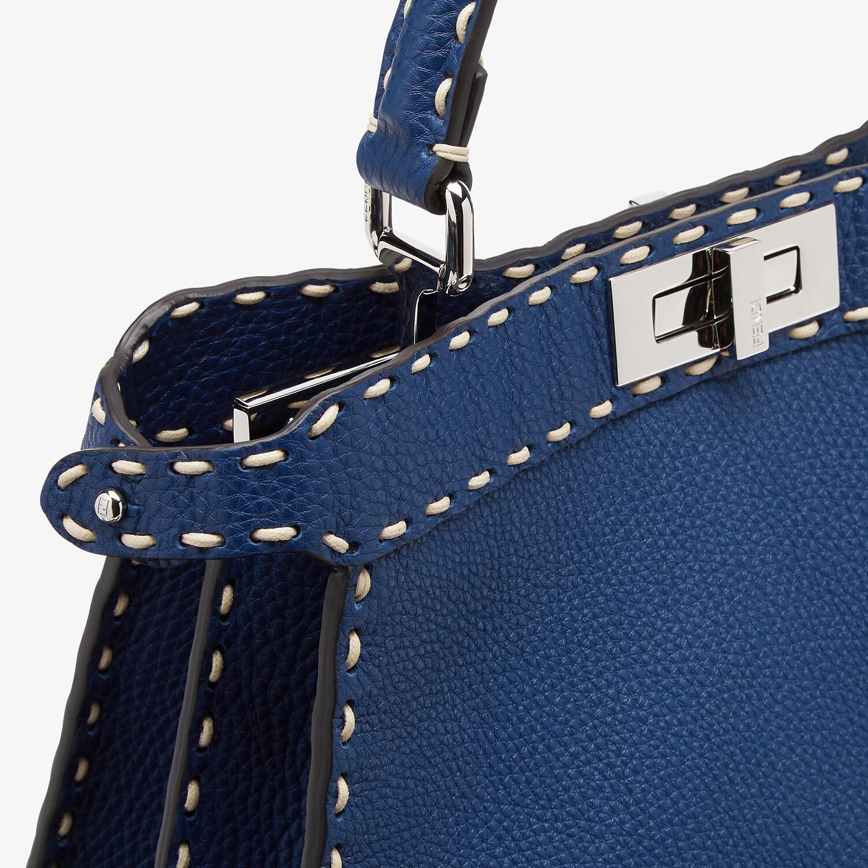 FENDI PEEKABOO ISEEU MEDIUM - Blue full grain leather bag - view 7 detail
