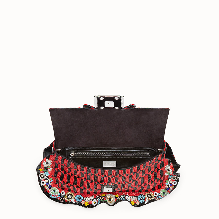 FENDI BAGUETTE - Embroidered shoulder bag with beads - view 4 detail