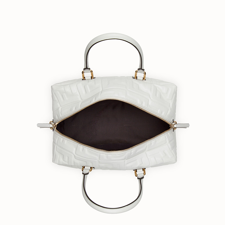 FENDI BOSTON SMALL - White leather Boston bag - view 4 detail