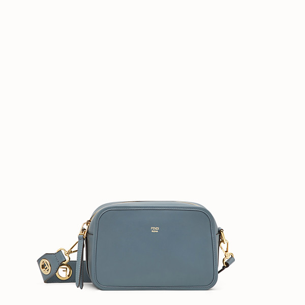 FENDI CAMERA CASE - Borsa in pelle blu - vista 1 thumbnail piccola