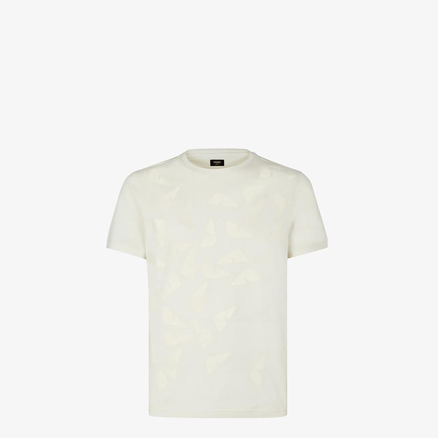 FENDI T-SHIRT - T-Shirt aus Jersey in Weiß - view 1 detail