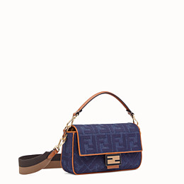 FENDI BAGUETTE - Blue denim bag - view 3 thumbnail