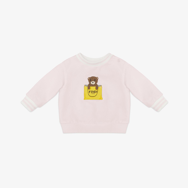 FENDI SWEAT-SHIRT BÉBÉ - Sweat-shirt bébé en jersey rose - view 1 detail