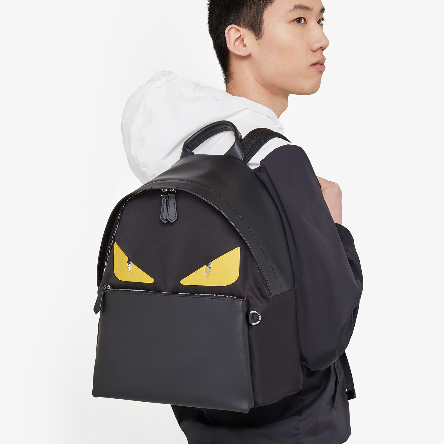 FENDI BACKPACK - Backpack in black nylon - view 5 detail