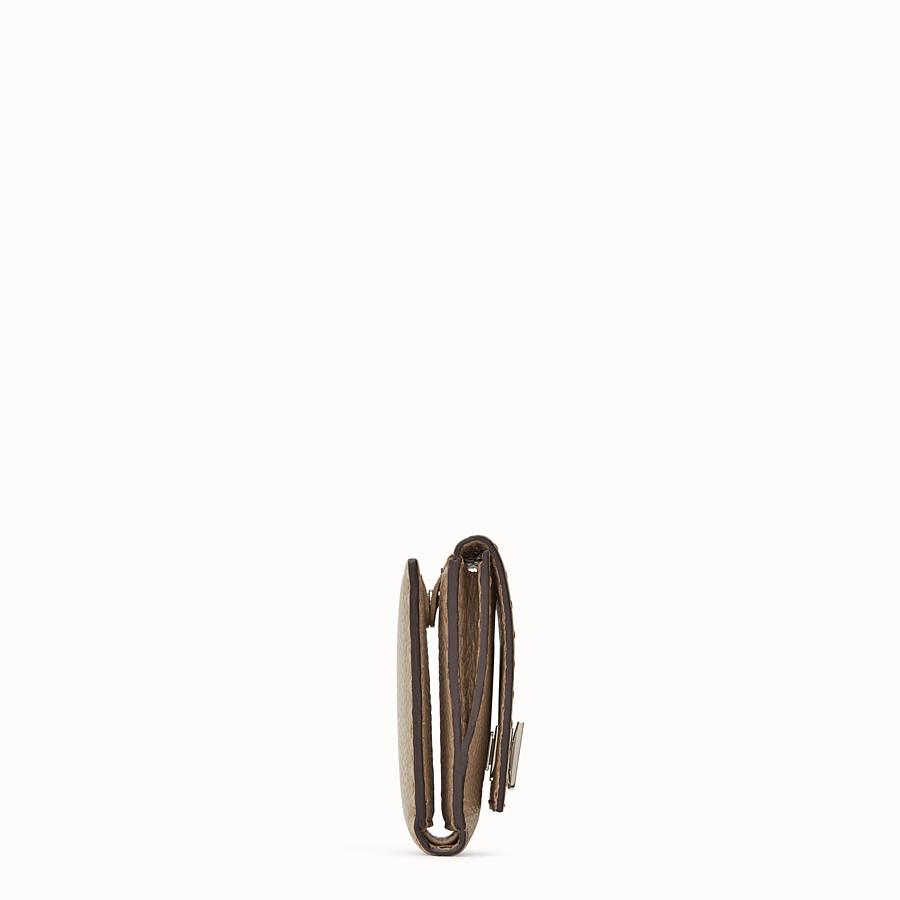 FENDI CONTINENTAL MEDIUM - Beige leather wallet - view 3 detail