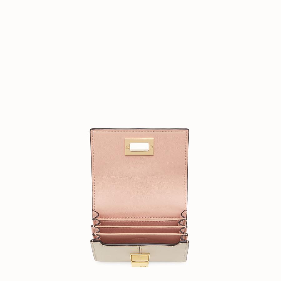 FENDI PORTACARTE - Porta carte in pelle beige - vista 3 dettaglio