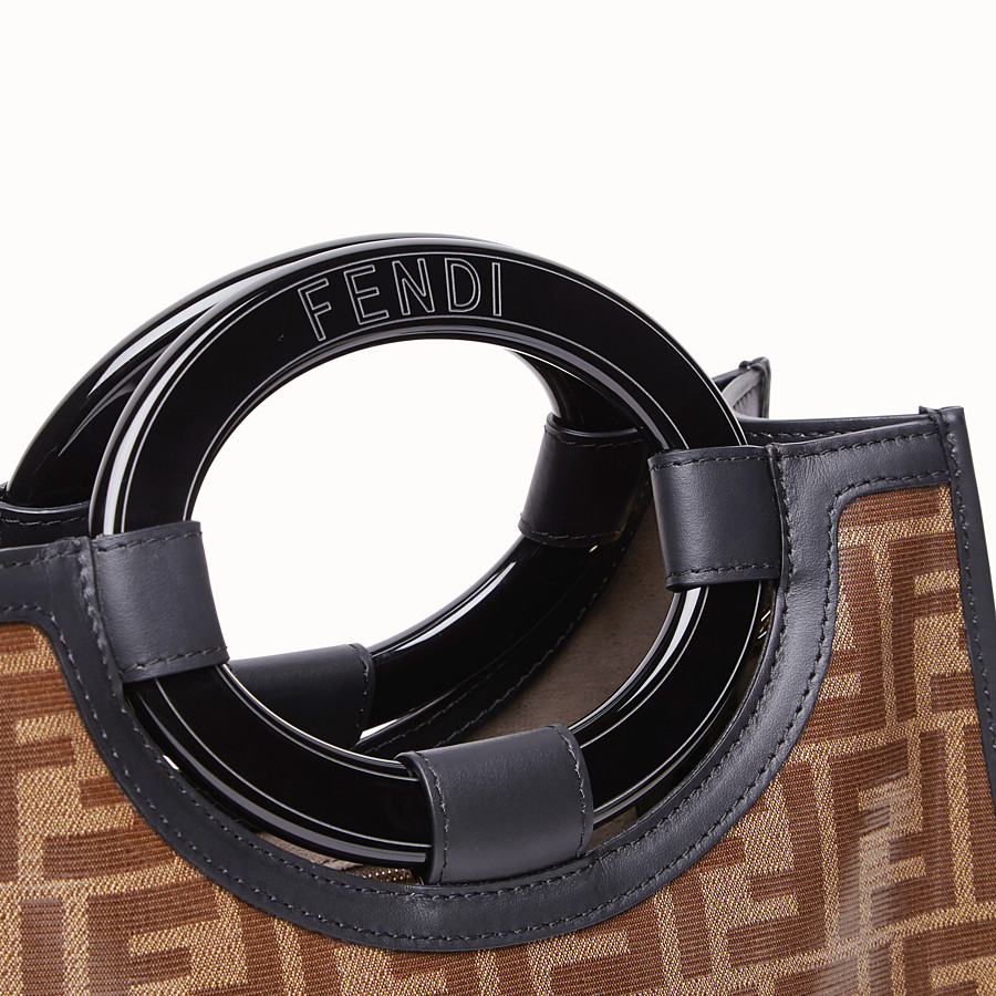 FENDI RUNAWAY SHOPPER - Shopper aus Stoff in Braun - view 6 detail