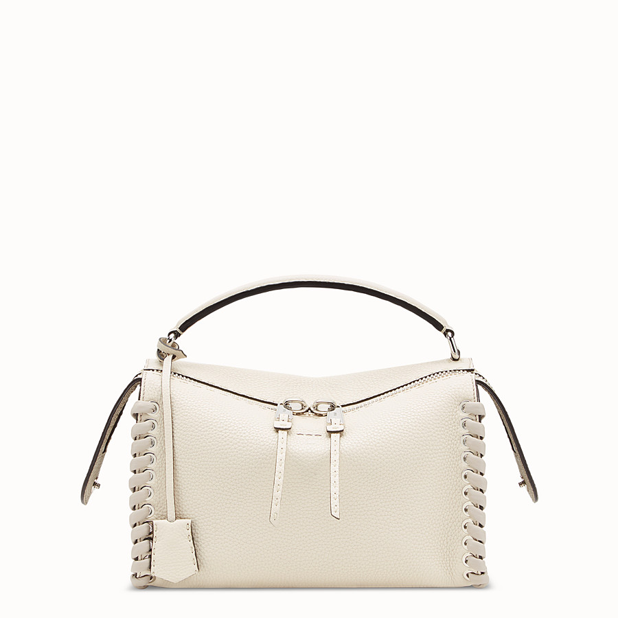 FENDI LEI SELLERIA BAG - White leather Boston bag - view 1 detail