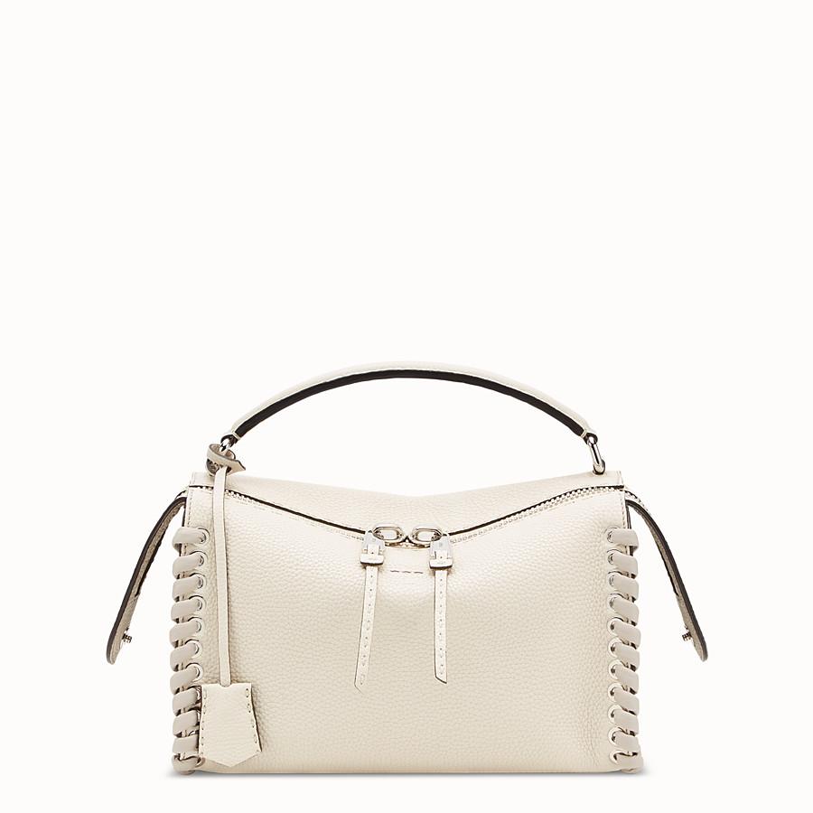 2ac559d43ee White leather Boston bag - LEI SELLERIA BAG | Fendi