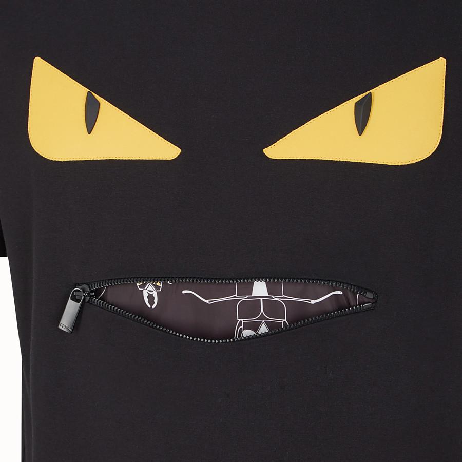 FENDI T 恤 - 黑色棉質 T 恤 - view 3 detail