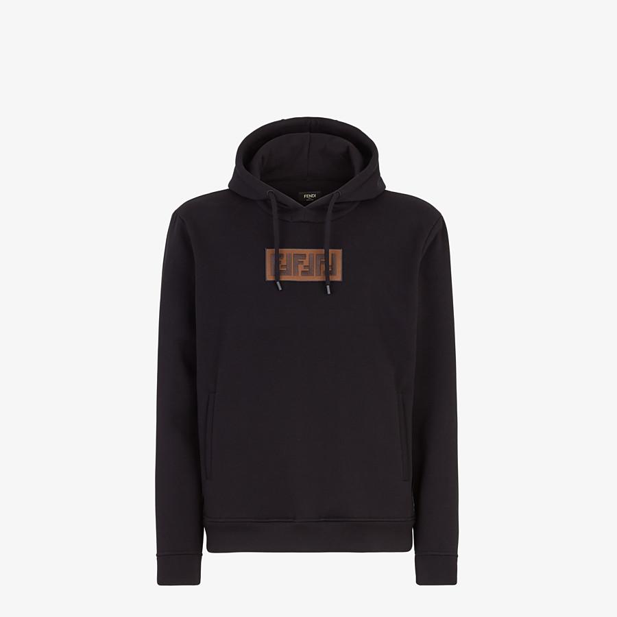 FENDI SWEATSHIRT - Black cotton and cashmere sweatshirt - view 1 detail