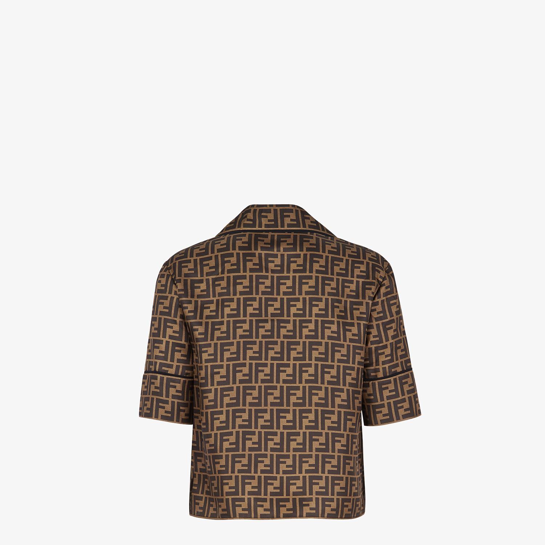 FENDI PAJAMAS - Brown silk pajamas - view 3 detail