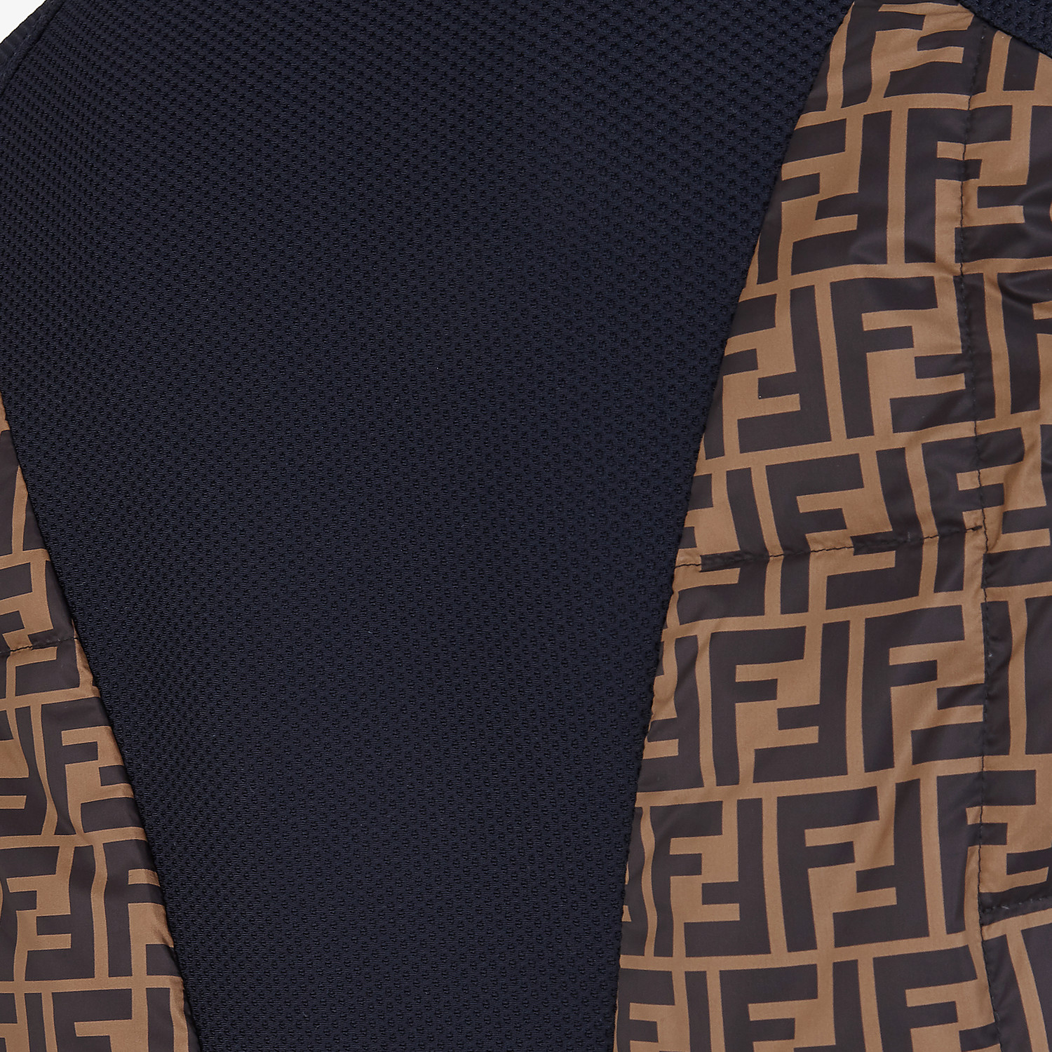 FENDI GILET - Multicolour tech fabric gilet - view 3 detail
