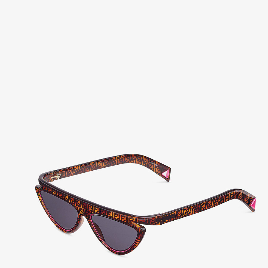 FENDI FFLUO - Brown sunglasses - view 2 detail